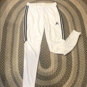 Adidas women's white sweatpants